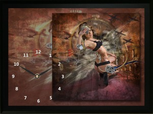 Clock made with a boudoir photo taken by Karen at Amber Light Photography